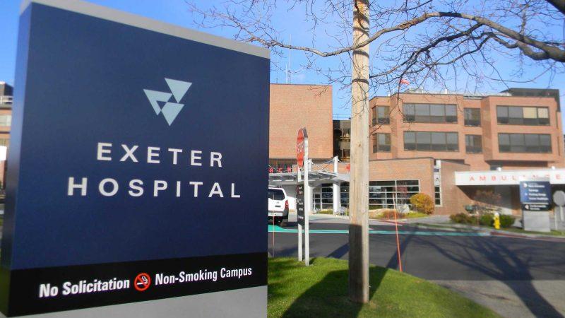 Exeter Hospital Sign
